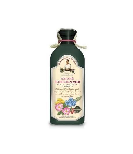 Szampon ziołowy miękki - do farbowanych i zniszczonych włosów - Receptury Babci Agafii 350ml