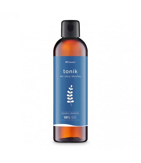 Tonik ziołowy oczyszczający do cery tłustej i trądzikowej - Szałwia I Nagietek - Fitomed 200 ml