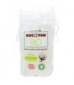 Płatki kosmetyczne owalne z bawełny ekologicznej - 40 szt Bocoton