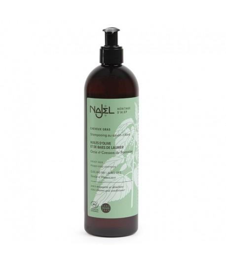 Szampon i odżywka 2w1 z mydłem Aleppo do włosów przetłuszczających się - Najel 500 ml