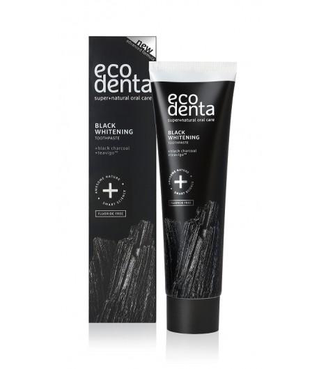 Pasta do zębów extra black wybielająca z węglem drzewnym i TEVAGO - Ecodenta 100 ml