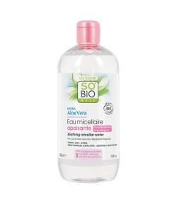 Hipoalergiczna woda micelarna do demakijażu skóry wrażliwej z aloesem - SO'BiO Etic 500 ml