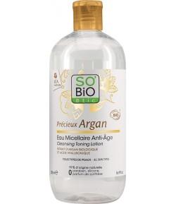 Przeciwzmarszczkowa woda micelarna z olejkiem arganowym - SO'BiO Etic 500 ml