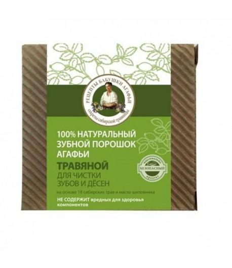 Proszek do zębów i dziąseł - Ziołowy - Receptury Babci Agafii 120 ml