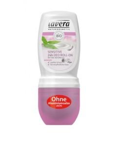 Dezodorant roll-on SENSITIVE z bio-mleczkiem ryżowym - Lavera 50 ml
