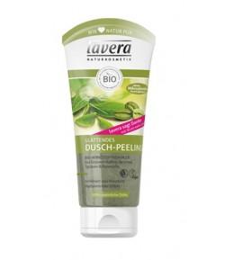 Wygładzający żel - peeling do mycia ciała z zieloną kawą, herbatą, winogronami i rozmarynem - Lavera 200 ml