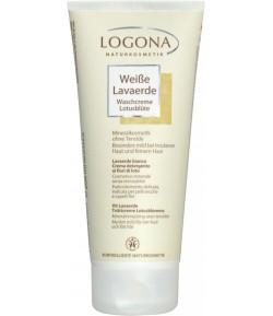 Biała glinka w kremie do mycia twarzy, ciała i włosów z kwiatem Lotosu - Logona 200 ml
