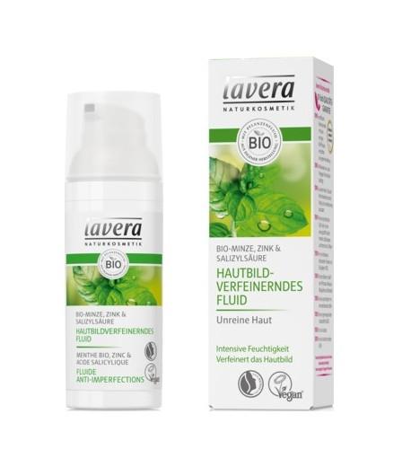 Lekki fluid do cery tłustej i zanieczyszczonej z bio-miętą, cynkiem i kwasem salicylowym - Lavera 30 ml