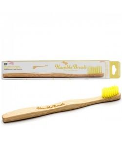 Bambusowa szczoteczka do zębów dla dzieci ULTRA SOFT żółta 14,5cm - Humble Brush
