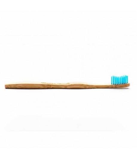 Bambusowa szczoteczka do zębów SOFT niebieska 19cm - Humble Brush