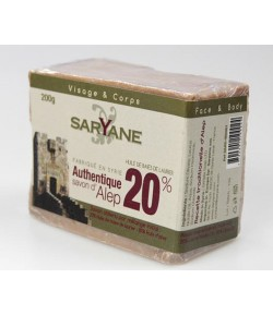 Mydło Aleppo 20% - Saryane 200 g