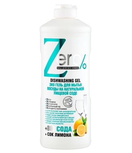 Eco żel do mycia naczyń - soda i cytryna - Zero 500 ml
