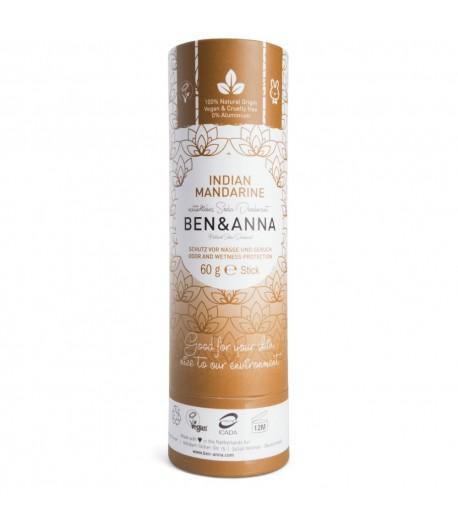 Naturalny dezodorant INDIAN MANDARINE - sztyft kartonowy - BEN&ANNA 60g