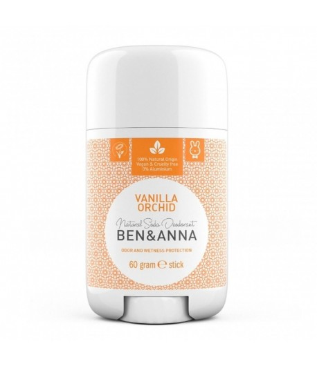Naturalny dezodorant VANILLA ORCHID - sztyft plastikowy - BEN&ANNA 60g