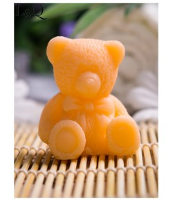 Mydło glicerynowe - mały Miś - pomarańczowy - LaQ 30g