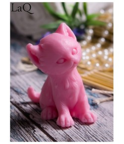 Mydło glicerynowe - Kotek Puszek - różowy - LaQ 50 g