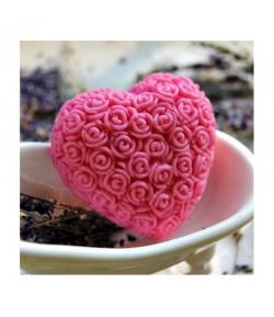 Mydło glicerynowe - Wielkie serce - różowe - LaQ 140 g