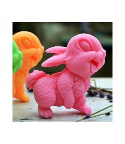 Mydło glicerynowe - Uśmiechnięty królik - różowy - LaQ 60 g