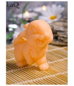 Mydło glicerynowe - Uśmiechnięty królik - pomarańczowy - LaQ 60 g