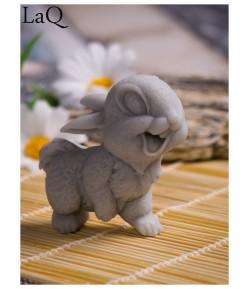 Mydło glicerynowe - Uśmiechnięty królik - szary - LaQ 60 g