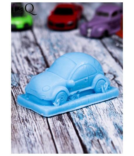 Mydło glicerynowe - Pan samochodzik - niebieski - LaQ 60 g