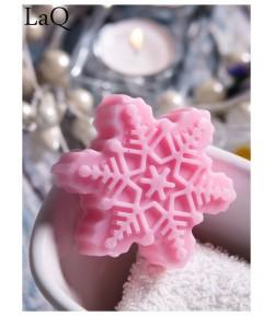 Mydło glicerynowe - Śnieżynka - różowa - LaQ 90 g