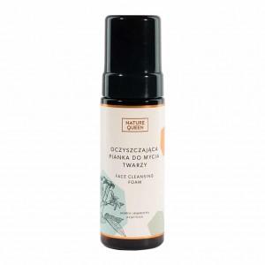 Oczyszcająca pianka do mycia twarzy - Nature Queen 175 ml
