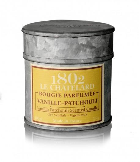 Świeca zapachowa PACZULA i WANILIA 100 g - LE CHATELARD 1802