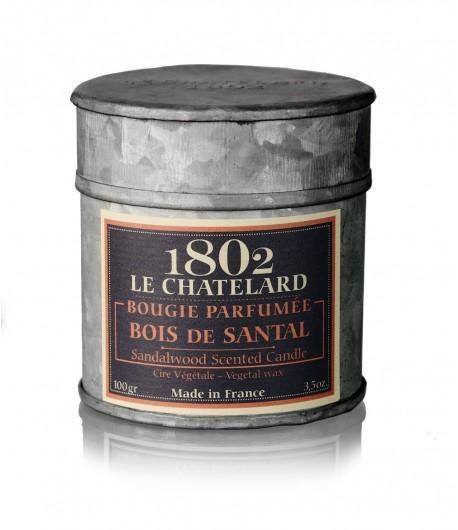 Świeca zapachowa DRZEWO SANDAŁOWE 100 g - LE CHATELARD 1802