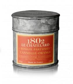 Świeca zapachowa POMARAŃCZA I CYNAMON 100 g - LE CHATELARD 1802