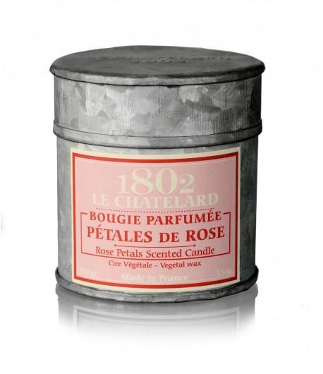 Świeca zapachowa RÓŻA 100 g - LE CHATELARD 1802