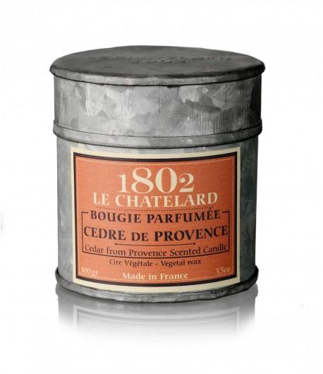 Świeca zapachowa CEDR Z PROWANSJI 100 g - LE CHATELARD 1802
