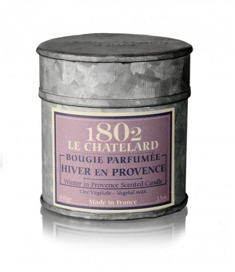 Świeca zapachowa ZIMA W PROWANSJI 100 g - LE CHATELARD 1802