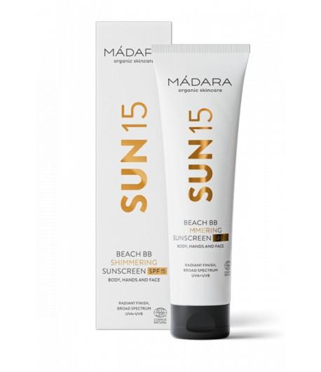 SUN15 Rozswietlajacy krem BB do ciała z filtrem SPF 15 - Madara 100 ml