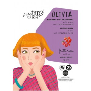 Olivia 10 - maseczka alginatowa PEEL OFF Czerwone owoce do cery tłustej - PuroBIO 10ml