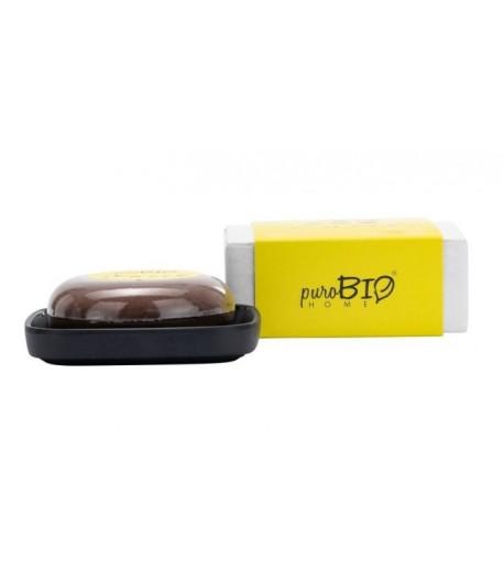 Mydło z mydelniczką Organic Sweet - zapach migdałowy - puroBIO HOME