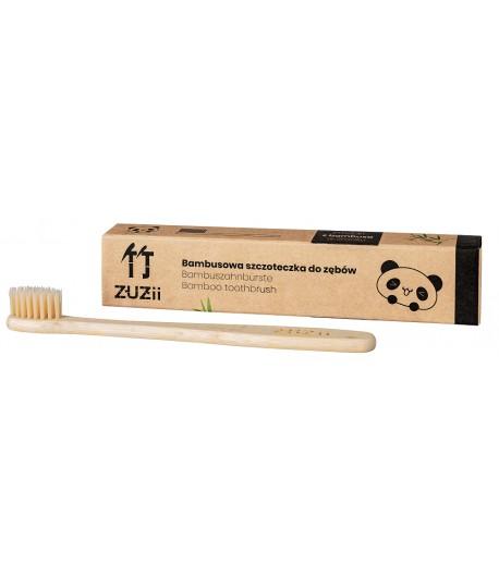 Bambusowa szczoteczka do zębów dla dzieci - kolor beżowy - Zuzii