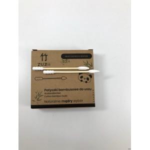 Bambusowe patyczki kosmetyczne z bawełną (różne końcówki) - ZUZii 100 szt.