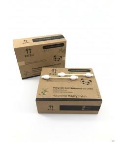 Bambusowe patyczki kosmetyczne z bawełną dla dzieci i niemowląt- ZUZii 50 szt.