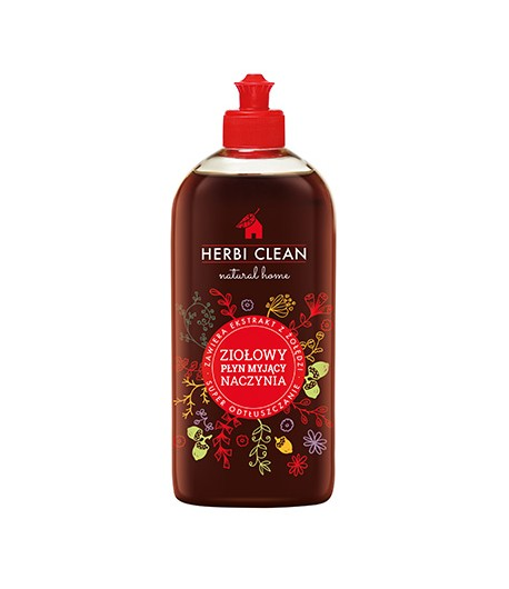 Ziołowy płyn do mycia naczyń - Herbi Clean 500 ml