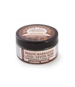 Czarne Mydło (savon noir) z olejem sandałowym - Beaute Marrakech 100 g