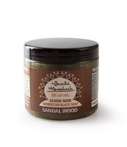 Czarne Mydło (savon noir) z olejem sandałowym - Beaute Marrakech 200 g