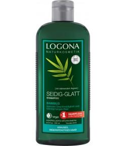Wygładzający szampon z Bambusem - Logona 250 ml