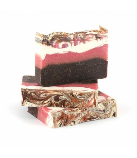 Mydło naturalne Kakaowe z Miodem i Olejem Ryżowym - Miodowa Mydlarnia 95g