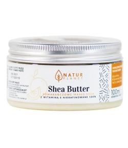 Masło Shea Nierafinowane - pomarańczowe z witaminą E - Natur Planet 100 ml