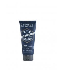 Odświeżający żel do mycia ciała, twarzy i włosów 3w1 - Mini - For men only - Benecos 30 ml
