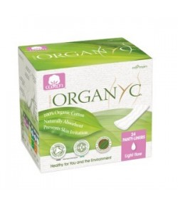 Ultra cienkie wkładki higieniczne - pakowane pojedynczo - 24 szt. Organyc