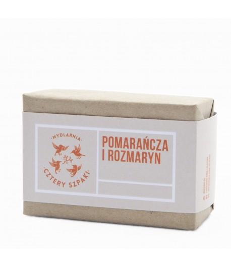 Mydło Pomarańcza i Rozmaryn - Mydlarnia Cztery Szpaki 110g