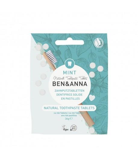 Naturalne tabletki do mycia zębów BEZ FLUORU - BEN&ANNA 36g