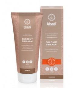 Kokos i Shikakai - Ajurwedyjska nabłyszczająca odżywka do włosów - Khadi 200ml